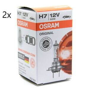 Twin Pack OSRAM H7 64210 12v 55W Car Headlight Globe Bulb German Quality