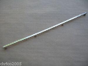 Silberbeschläge für Lederwaren *neu* 1 Seitenbeschlag gedreht für Trensen 230-10