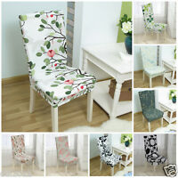 Stretch Short Corduroy Banquet Dining Room Chair Cover Decor Machine Washable