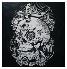 Head Of The Skull Tapestry Mandala Wall Hanging Bohemian Bedsheet Ethinc WallArt