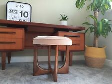 Vintage G Plan Fresco Dressing Table Stool  Teak Pink Fabric mid century astro