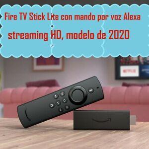 Fire TV Stick Lite con mando por voz Alexa (2020,tercera generacion)