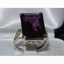 Solid Sterling Silver Large 16x12mm Octagon cut Synthetic Alexandrite Ring