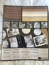Creative Memories Shades of Brown Photo Mounting Paper. 2nd Listing. Sealed!