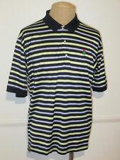BOBBY JONES  Striped  S/S Polo 100%  Cotton XL  EUC