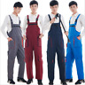 Mens Cotton Drill Bib and Brace Adult Painter Dungarees Work Trousers