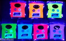 Ultraviolet uv glow fluorescent pigment powder ALL 7 colours
