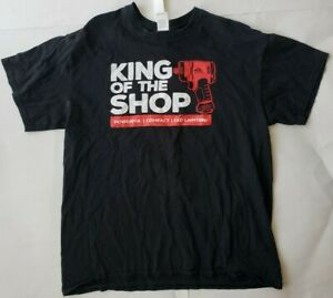 "Vintage ""King Of The Shop"" Mac Tools Black Large- T Shirt Gildan 100% Cotton"