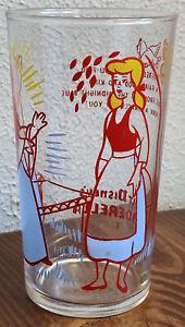 "Vintage Walt Disney Cinderella 1950's Glass #3 Fairy Godmother 4 5/8"" Tall"
