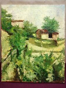 Quadro - Paesaggio, Guetta - Olio su tela - 45x55 cm