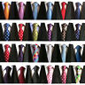 Skinny Slim Men's Tie Jacquard Woven Silk Necktie Party Wedding Polka Dot tie
