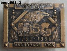 HARLEY DAVIDSON 15th ANNIVERSARY 1998 5th ANNUAL ANCHORAGE ALASKA HOG STATE PIN