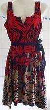 Desigual Ladies Dress 'Jasmine' Red&Multi, Size XL