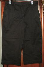 Sag Harbor Size 10P Black Capri Pants Stretch EUC Womens Petite Cotton/Spandex
