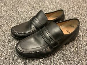 Clarks Classic Mens Leather Shoes Size UK 10 Extra Wide