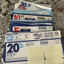 Lot of 60 Bed Bath Beyond Coupons 30 20% - 18 $5 off $15 - 8 $10 off $30 & More