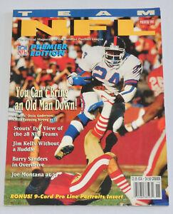 TEAM NFL MAGAZINE Premier Edition - Issue #1 (1991) Barry Sanders Joe Montana