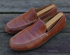 Cole Haan Hudson C12222 Men's Brown Venetian Slip-On Moc Toe Loafers Shoes 9 M