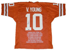 VINCE YOUNG AUTOGRAPHED SIGNED TEXAS LONGHORNS #10 STAT JERSEY TRISTAR