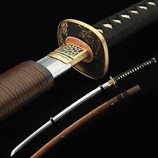 Samurai Sword, Handmade 608 Pattern Steel Japanese Katana Rosewood Scabbard