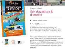 E-Billet Wonderbox ''Soif aventure & insolite'' e-billet 79 € au lieu 99€