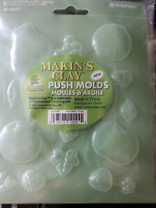Modeling Clay Fruit Shaped Molds New Lot of 18 (6 Bags of 3)  Free Shipping !