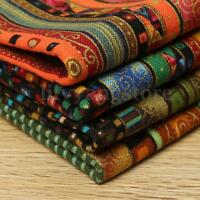 4PCS Cotton and Hemp Pre-Cut Cotton Quilt Cloth Fabric For Sewing Wholesale US