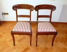 deux Biedermeier chaises à 1830 acajou chaise