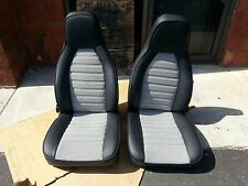 PORSCHE 911 912 924 944 SEAT KIT BLK/WHT HOUNDS TOOTH KIT NEW BEAUTIFUL