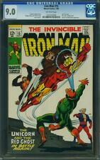 Iron Man #15 CGC 9.0 -- 1969 -- Unicorn. Red Ghost. #1222142004