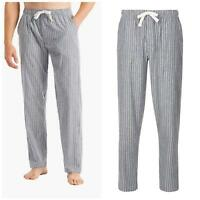 Ex M&S Marks and Spencer Mens Grey White Striped Pyjama Bottoms PJs