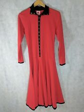 Betsey Johnson Vintage Punk Face Sweater Gown Dress Red Size 6