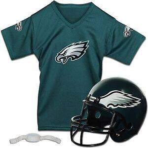 Philadelphia Eagles NFL Kids Football Helmet and Jersey Set One Size ~ NIB