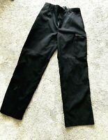 Nautica Competition Mens Black Large Medium Water Resistant Sailing Pants 32X33