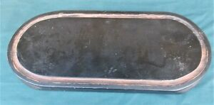 antique base for glass oval dome, wooden base for display case,