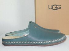 74f46df5af3 NEW WOMENS 12 ALOE VERA UGG TAMARA LEATHER BACKLESS WOOL SLIP-ON LOAFERS  MULES