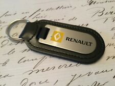 RENAULT Key Ring Etched and infilled On Leather