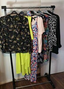 Womens Ladies Clothes Bundle Size 16 Midi Dress Blazer Shirt Blouse Top CC4
