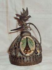 Vintage Victorian Service Bell Featuring Grapes And Glass Painting France 1900