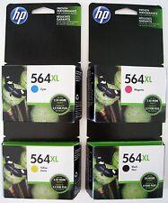 4-PACK HP GENUINE 564XL Black & Color Ink  Photosmart 6520 7520 5520 Exp 2017-18