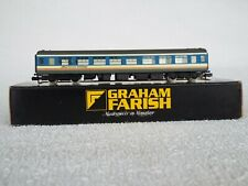 More details for graham farish mk2 coach with window inserts, network south east livery.