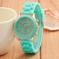 Fashion Unisex Women Men Watch Silicone Rubber Sports Quartz Analog Wrist Watch