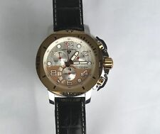 Swiss Legend Scubador Silver/Gold Swiss Movement Chrono Watch