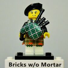 New Genuine LEGO Bagpiper Minifig with Bagpipes Series 7 8831