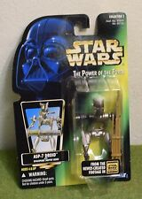 STAR WARS CARDED POWER OF THE FORCE GREEN CARD ASP-7 DROID