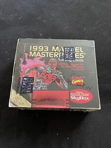 1993 Marvel Masterpieces Trading Cards Box Sealed Skybox Marvel Universe Packs