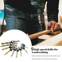 3.5-10mm 5 Flute HSS Countersink Drill Bit Carpentry Tool Wood Supply G3Z6