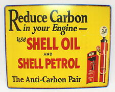 Reduce Carbon Shell Petrol Oil Engine Retro Metal Tin Sign New