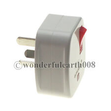 2 x China Rewireable DIY Plug Australian With Main Switch & LED Indicator