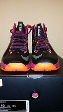 Nike Lebron X Floridians 541100-005 Black Fireberry MEN SZ 10 FREE SHIPPING